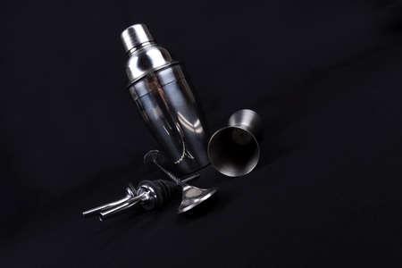 bar tools isolated on black background photo
