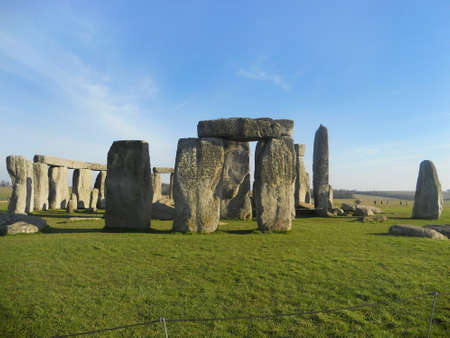 tourist spots: The famous and mysterious Stonehenge in Salisbury, Wiltshire, England