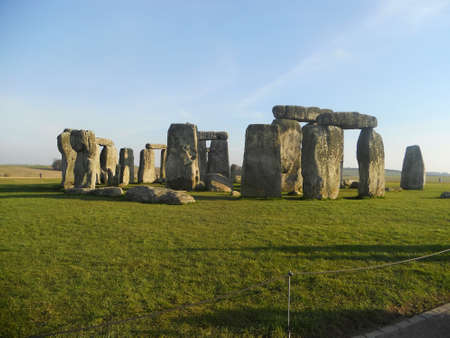 The famous and mysterious Stonehenge in Salisbury, Wiltshire, England Stock Photo