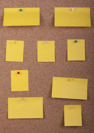 Post It Notes On Cork Board Stock Photo - 20750494