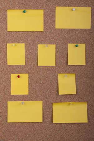 Post It Notes On Cork Board photo
