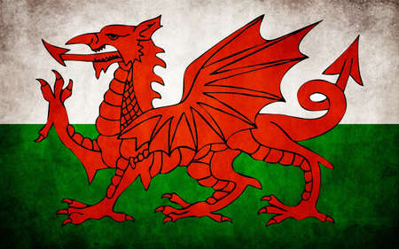 Flag of Wales Ilustrace