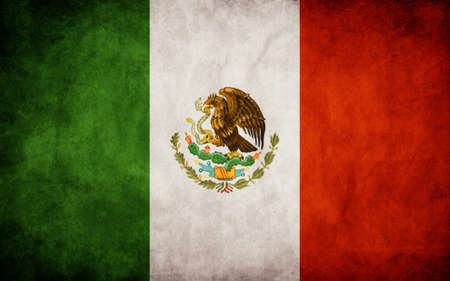 mexican flag: Mexican flag   Illustration