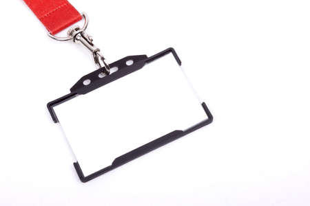 ID badge isolated on white background Stock Photo - 20918836