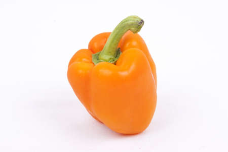orange peppers isolated on a white background
