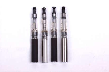 Electronic cigarettes isolated on white background Stock Photo