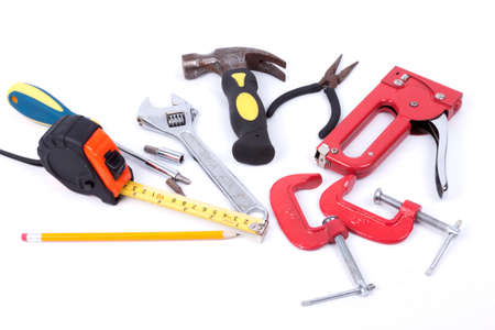 Set of tools isolated  on a white background