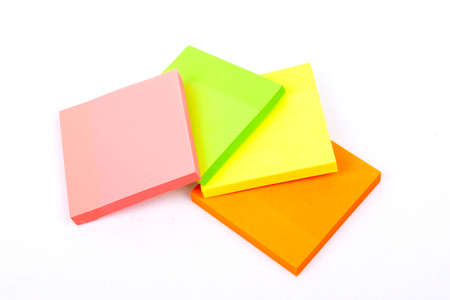 Sticky Notes Cube isolated on a white  Stock Photo