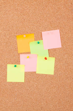 pinboard: Post It Notes On Cork Board