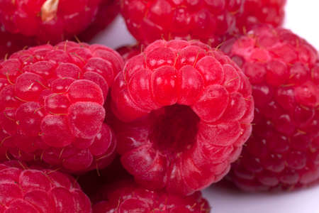 raspberries fruits isoalted on a white background