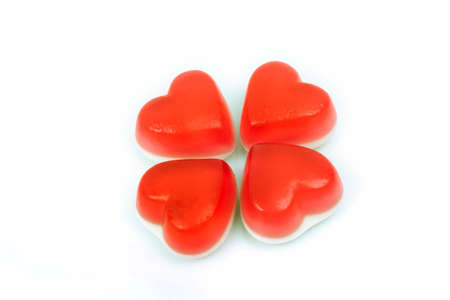 munchy: red heart gummy candy