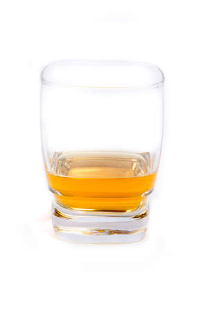 Whisky glass on a white background
