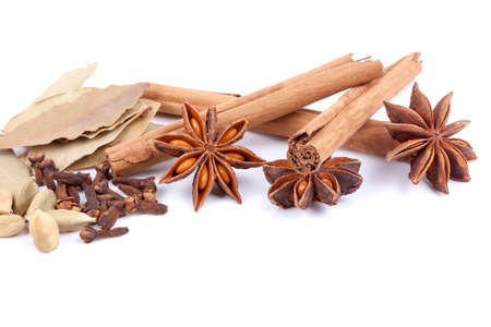 spices isolated on the white background Stock Photo