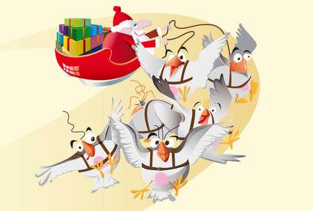 santaclaus: Santa-claus, with birds