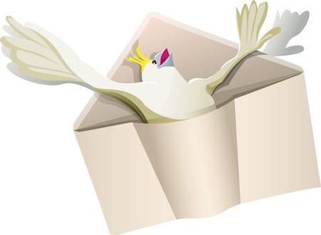 parakeet: parakeet in enveloppe