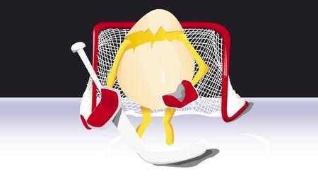 rink: Egg on rink Illustration