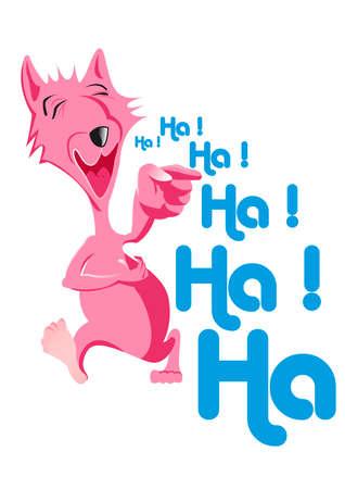 joyous: laughing dog