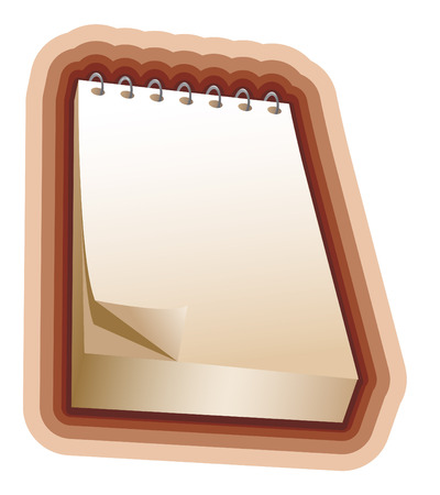 pocket book: brown notebook Illustration