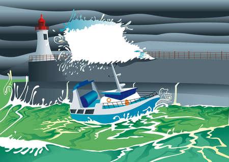 jetty: boat go in port