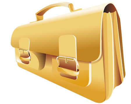 schoolkid: gold backpack