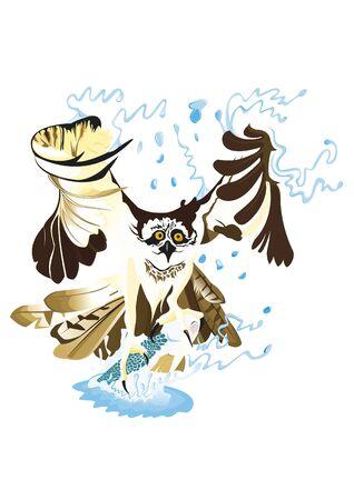 osprey: Osprey fishing a fish