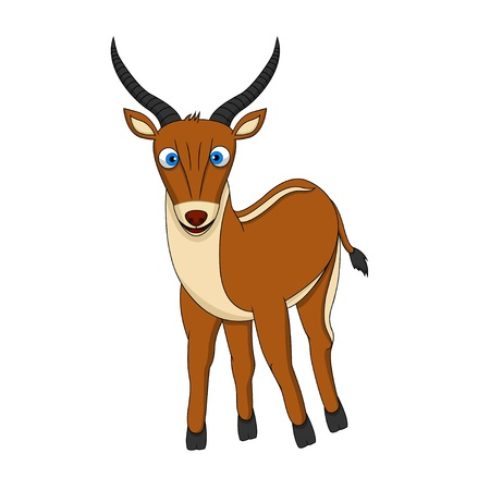 benign: Brown Cute Antelope with smile Illustration