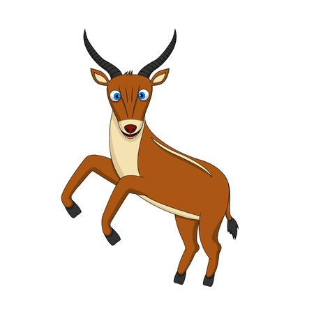 benign: Brown Cute Antelope standing Illustration