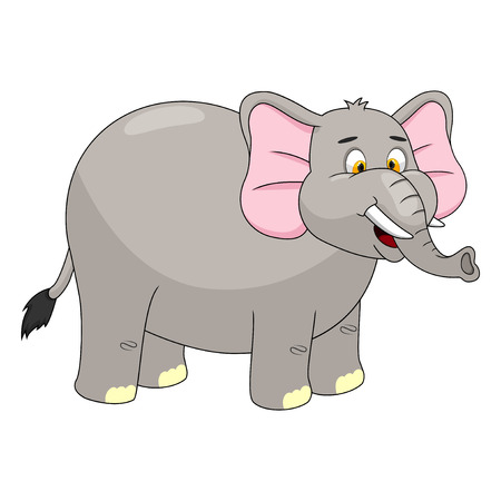 cute elephant: Elephant Cartoon Vector Illustration