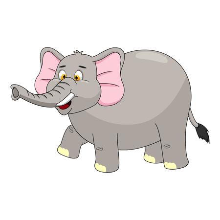 ELEFANTE: Ilustración del elefante de la historieta del vector