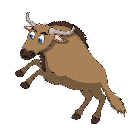 wildebeest: Wildebeest Cartoon Vector Illustration Illustration