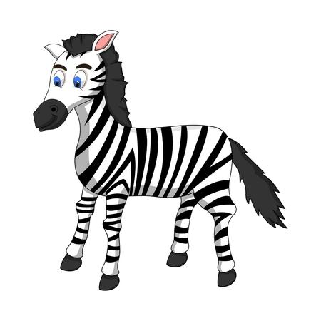 full color: Cute Zebra Cartoon - full color