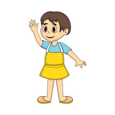 sassy: Cute Little Girl cartoon - full color