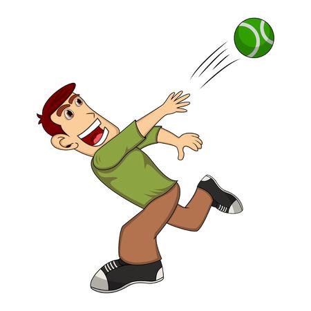 A man throwing a ball cartoon