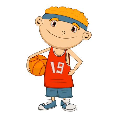 boy basketball: Boy Basketball player cartoon