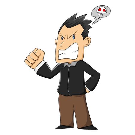 grumpy: Grumpy man cartoon