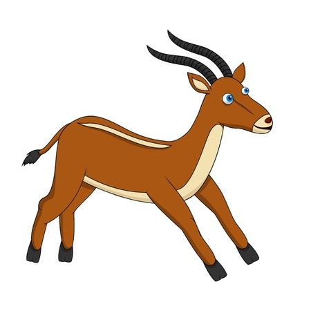 benign: Brown Cute Antelope running Stock Photo