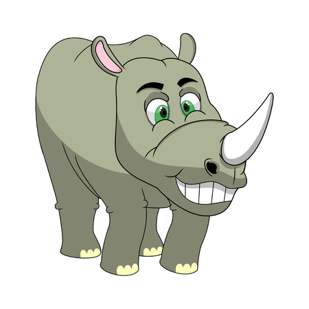 rhinoceros: Rhinoceros Cartoon