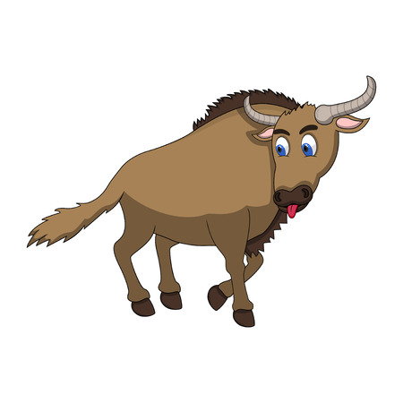 Wildebeest Cartoon Stock Photo