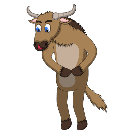 wildebeest: Wildebeest Cartoon Stock Photo