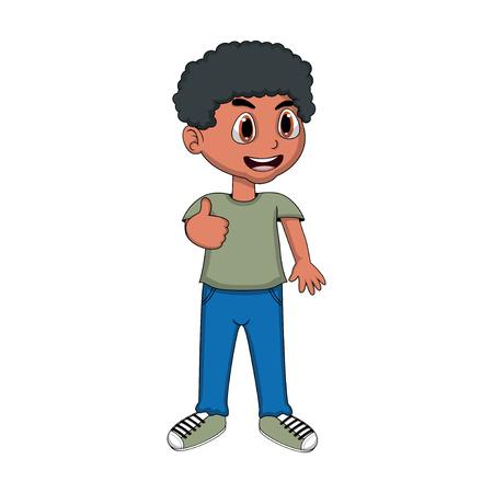 cute cartoon: Cute Little Boy Cartoon