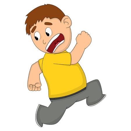 Ngstlich oder schockiert Man Cartoon Standard-Bild - 81691675