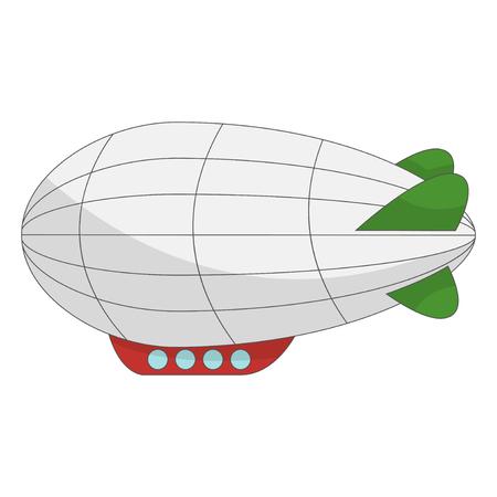 Beautifull zeppelin cartoon