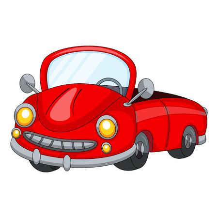 throttle: Cute Red Car Cartoon