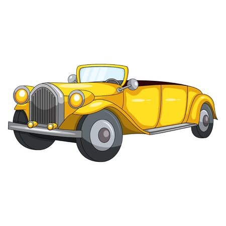 throttle: Cute Yellow Car cartoon