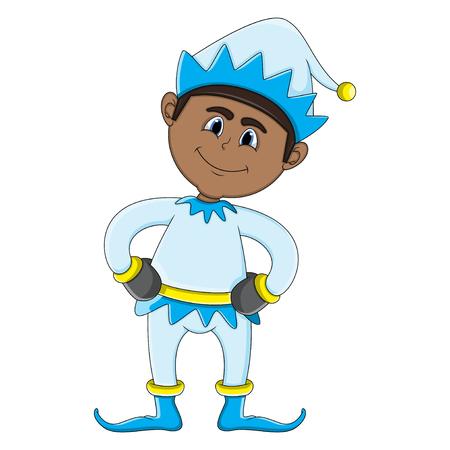 Happy Christmas elf icon.
