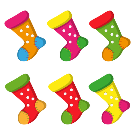 Nice Colorful socks for christmas desain