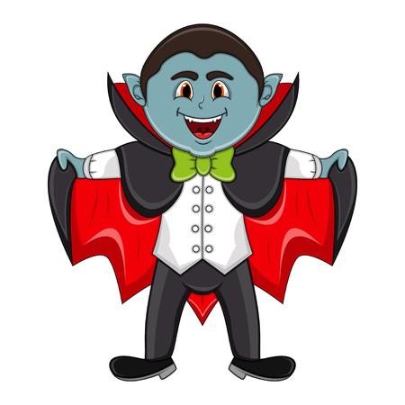 Cute Vampire Cartoon - full color