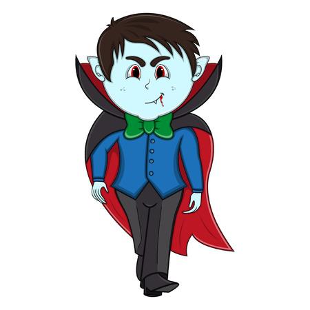 Funny Vampire Cartoon with costume
