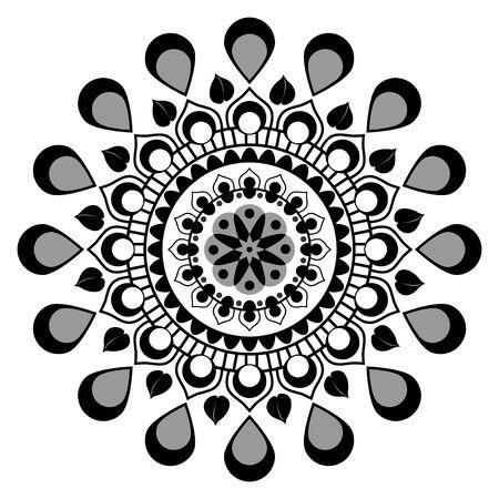 Simple mandala art vector illustration