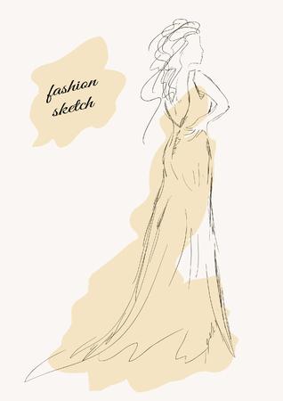 sketch: fashion sketch Illustration
